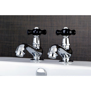 Duchess Two Handle Basin Tap Faucet Set w/Porcelain Cross, 1.2 gpm