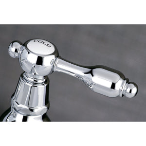 Tudor Two Handle Basin Tap Faucet Set w/Metal Lever, 1.2 gpm