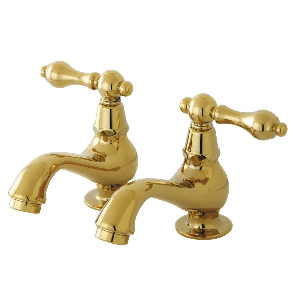 Heritage Two Handle Basin Tap Faucet Set w/Metal Lever, 1.2 gpm