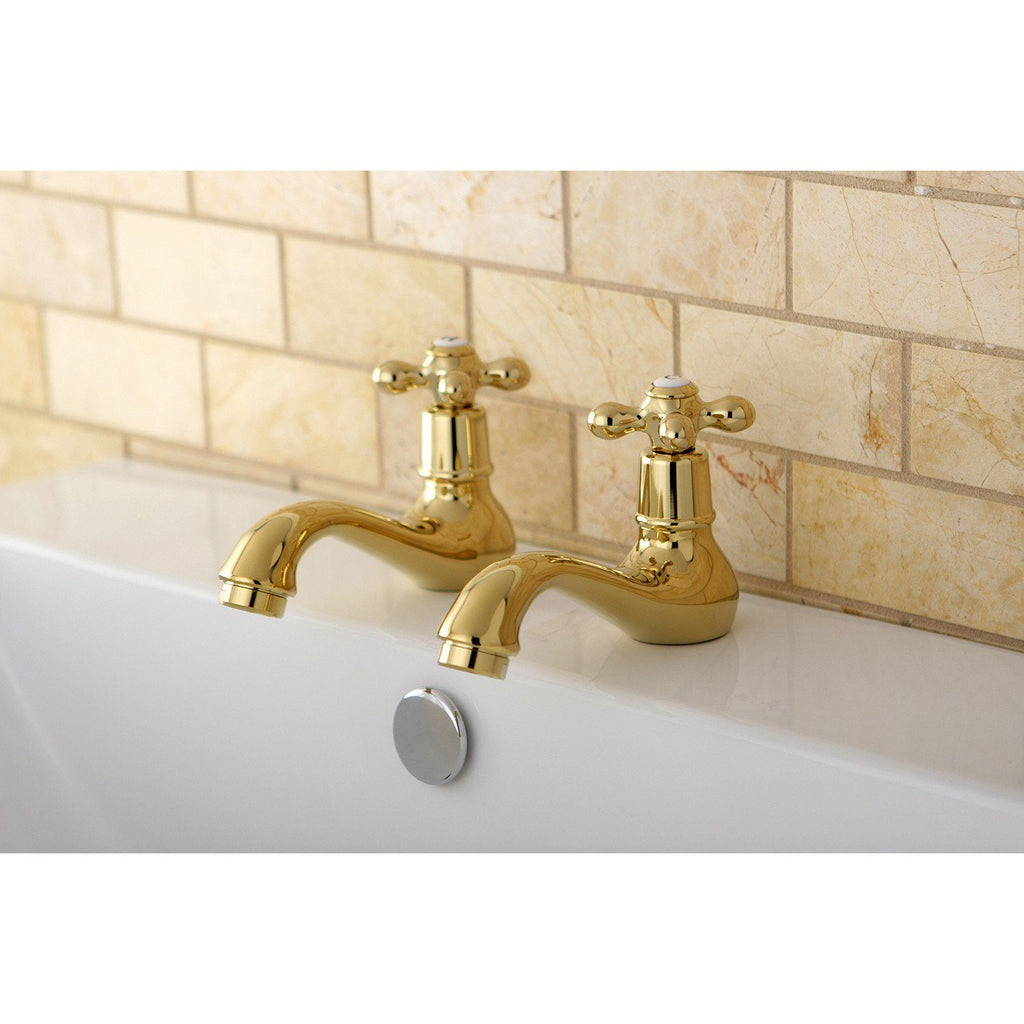 Heritage Two Handle Basin Tap Faucet Set w/Metal Cross, 1.2 gpm