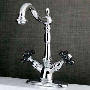 Duchess Two Handle 1 or 3-Hole Bathroom Faucet w/Porcelain Cross - Includes Pop-Up Drain, 1.2 gpm