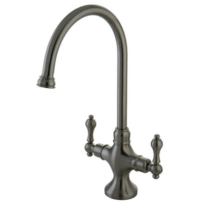 Vintage Two Handle 1-Hole Kitchen Faucet w/Metal Lever, 1.8 gpm