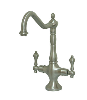 Heritage Two Handle 1-Hole Kitchen Faucet w/Metal Lever, 1.8 gpm