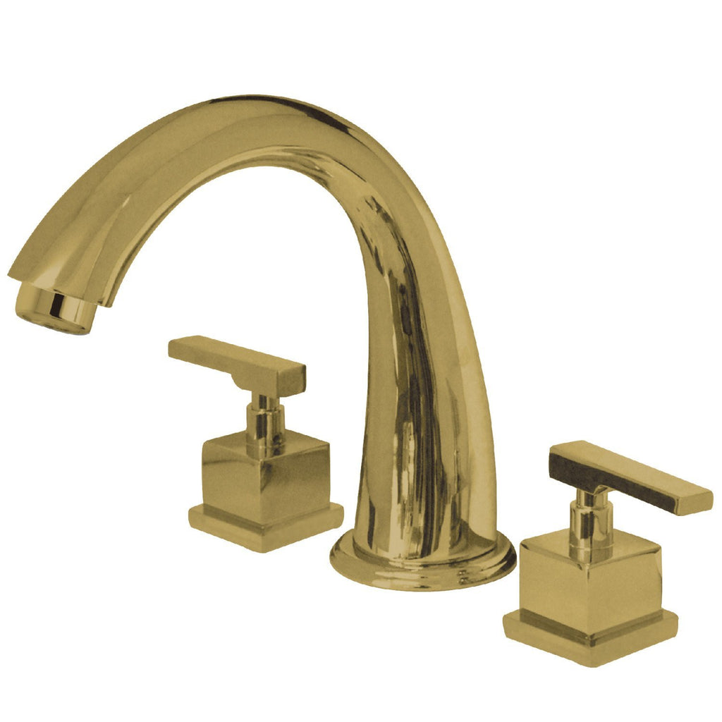 "Executive Two Handle 8-16"" Widespread 3-Hole Deck-Mount Roman Tub Filler Faucet w/Metal lever, 7.0 gpm"