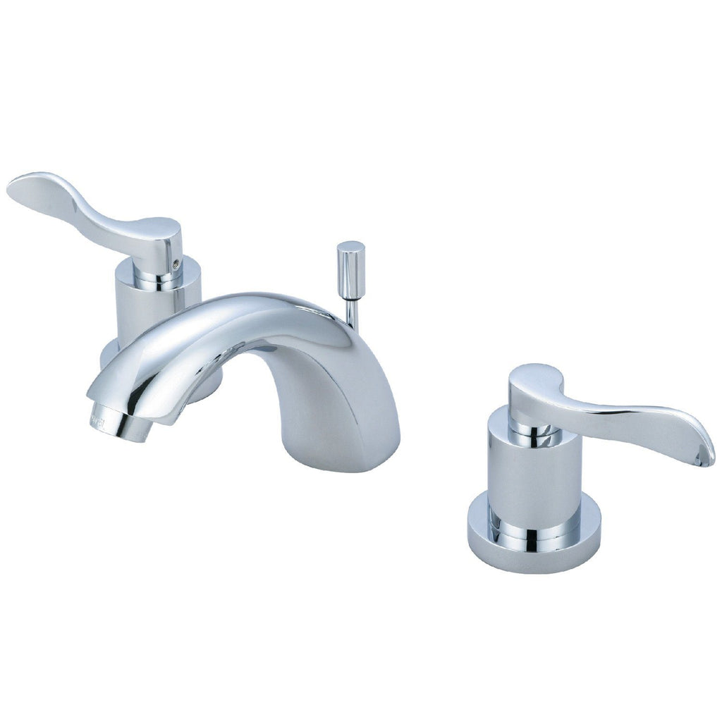 "Classic Two Handle 4"" Mini-Widespread 3-Hole Bathroom Faucet w/Metal Lever - Includes Pop-Up Drain - Includes Pop-Up Drain, 1.2 gpm"