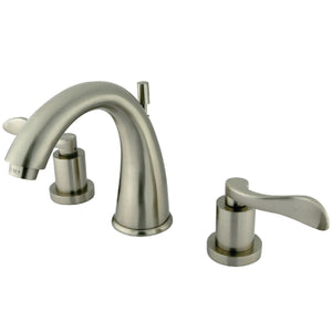 "NuWave Two Handle 8-16"" Widespread 3-Hole Bathroom Faucet w/Metal Lever - Includes Pop-Up Drain, 1.2 gpm"