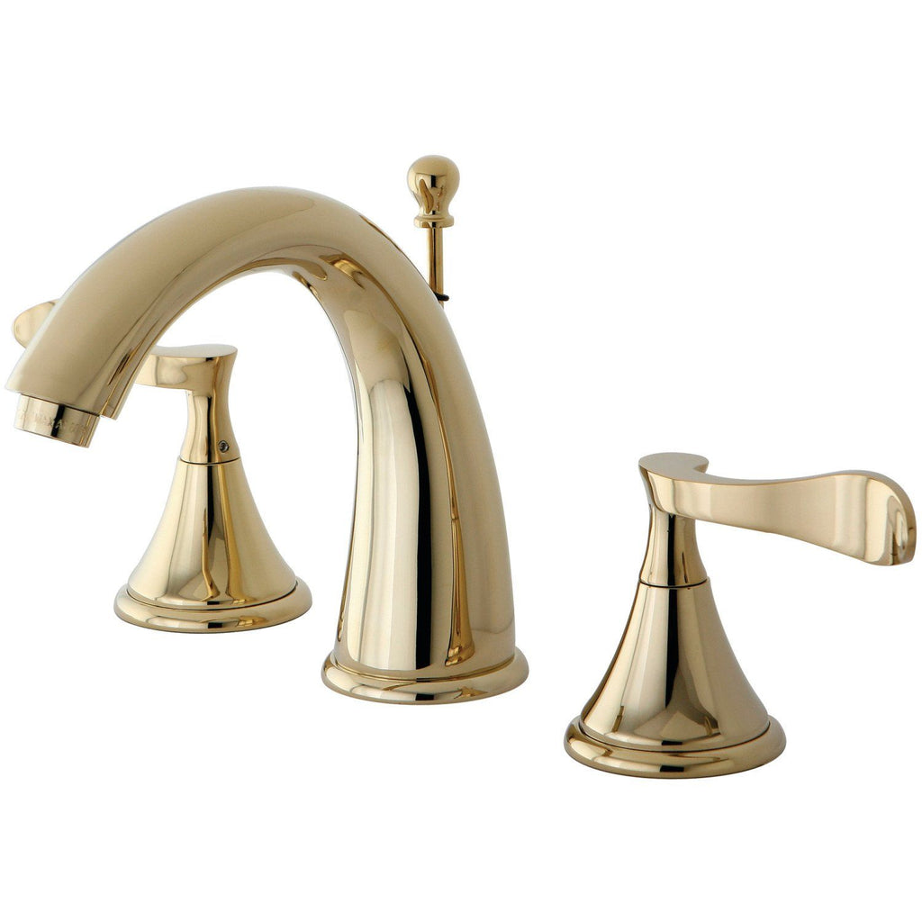 "Century Two Handle 8-16"" Widespread 3-Hole Bathroom Faucet w/Metal Lever - Includes Pop-Up Drain, 1.2 gpm"