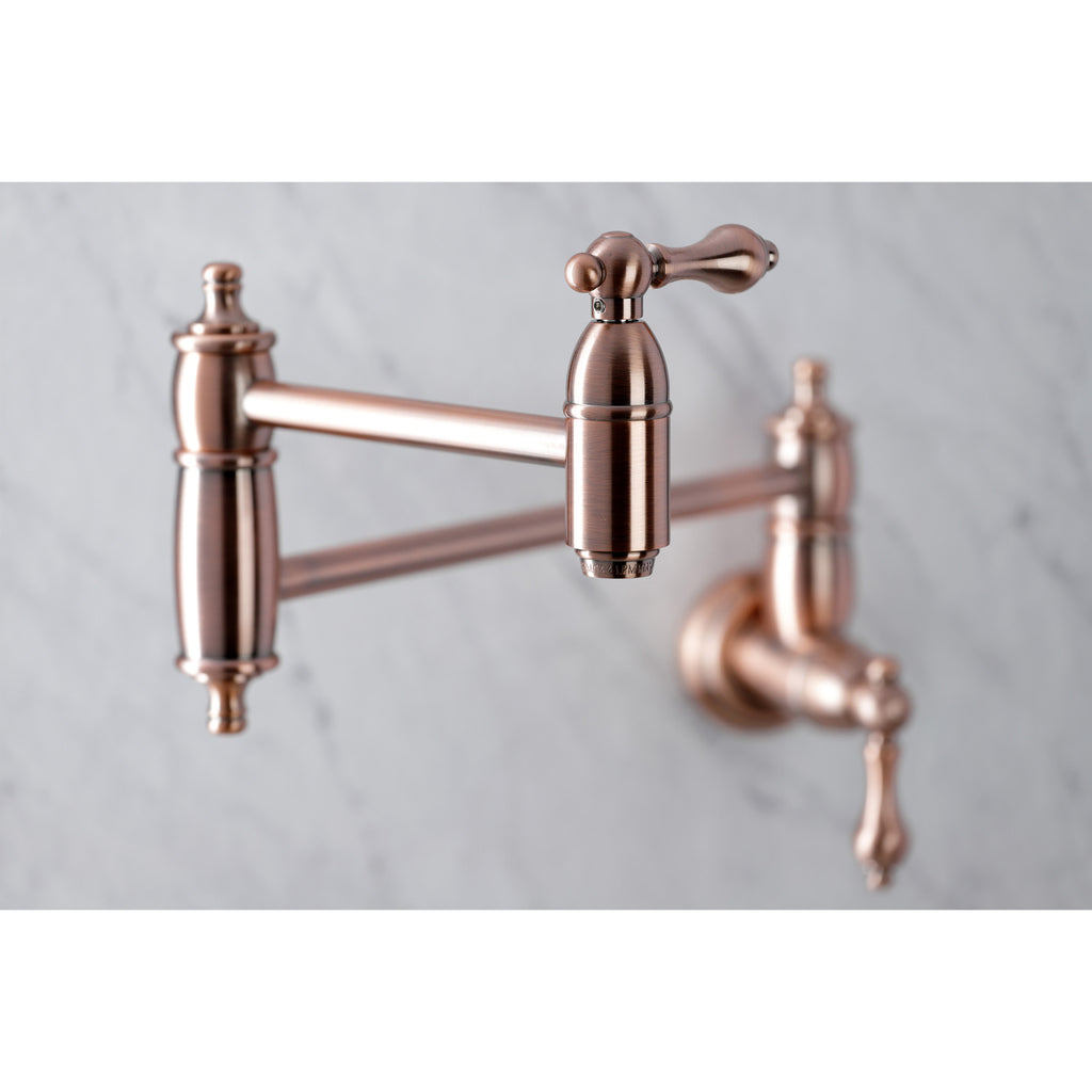 Restoration Two-Handle 1-Hole Wall Mount Pot Filler