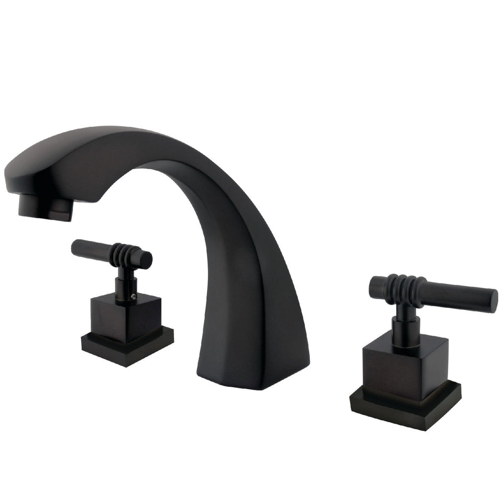 "Fortress Two Handle 8-16"" Widespread 3-Hole Deck-Mount Roman Tub Filler Faucet w/Metal lever, 7.0 gpm"