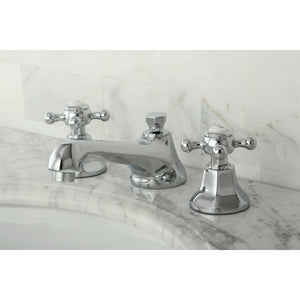 "Metropolitan Two Handle 8-16"" Widespread 3-Hole Bathroom Faucet w/Metal Cross - Includes Pop-Up Drain, 1.2 gpm"