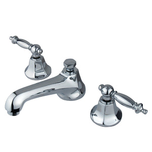"Metropolitan Two Handle 8-16"" Widespread 3-Hole Bathroom Faucet w/Metal Lever - Includes Pop-Up Drain, 1.2 gpm"