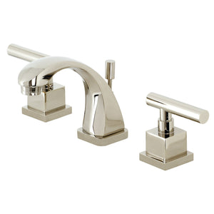 Claremont Two-Handle 3-Hole Deck Mount Widespread Bathroom Faucet with Brass Pop-Up
