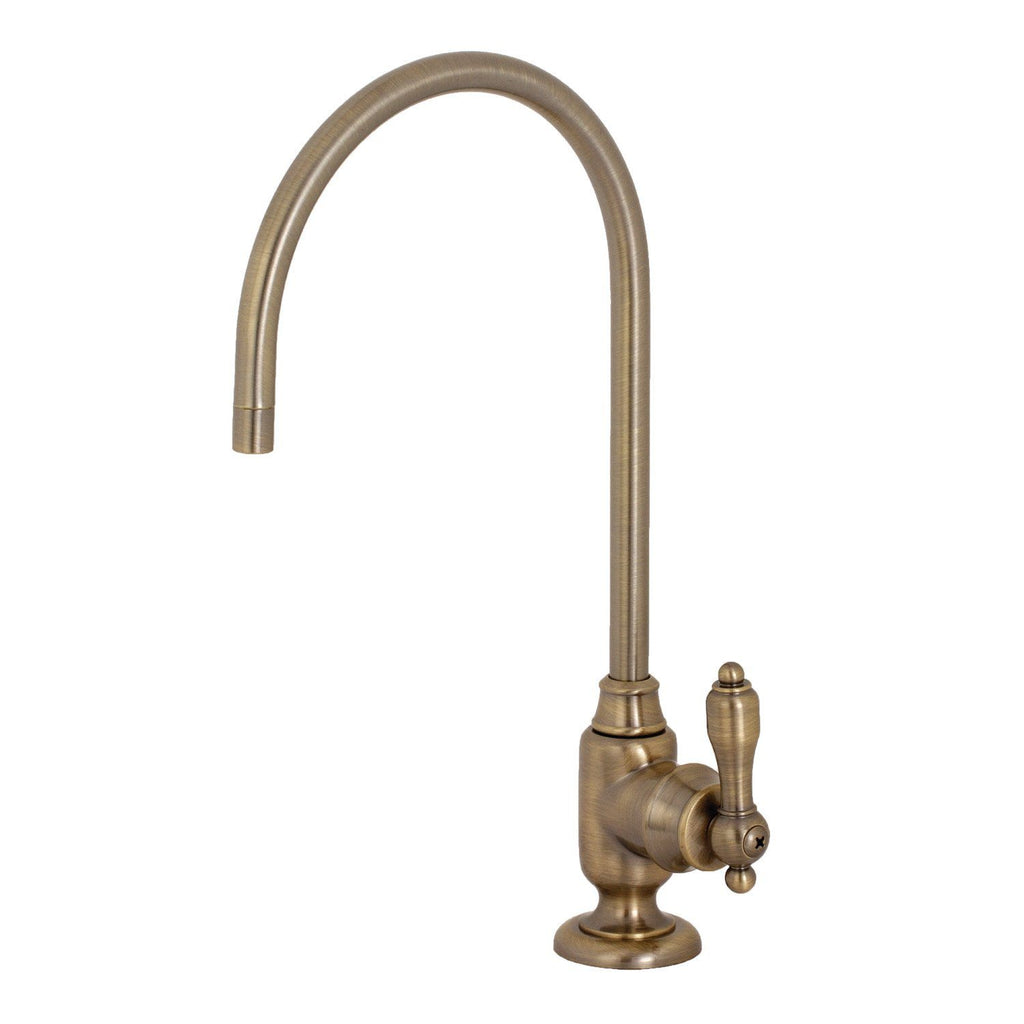 Tudor Single Handle 1-Hole Cold Water or Filtration Faucet w/Metal Lever, 1.0 gpm