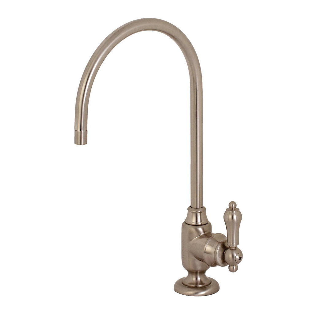 Heirloom Single Handle 1-Hole Cold Water or Filtration Faucet w/Metal Lever, 1.0 gpm