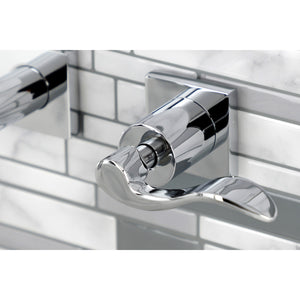 NuWave Two-Handle 3-Hole Wall Mount Bathroom Faucet