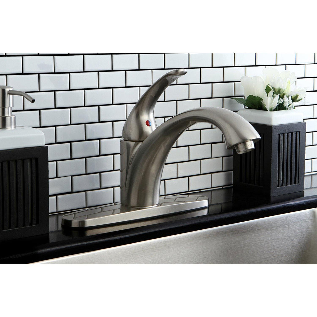 Vintage Single Handle 1 or 3 hole Kitchen Faucet w/Metal Lever and Optional Deck Plate, 1.8 gpm
