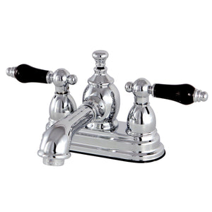 "Duchess Two Handle 4"" Centerset 3-Hole Bathroom Faucet w/Porcelain Lever - Includes Pop-Up Drain, 1.2 gpm"