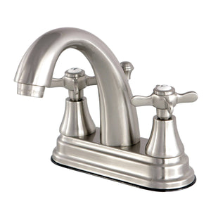 "Essex Two Handle 4"" Centerset 3-Hole Bathroom Faucet w/Metal Cross - Includes Pop-Up Drain, 1.2 gpm"