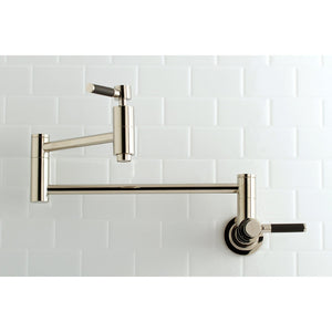 Kaiser Two-Handle 1-Hole Wall Mount Pot Filler