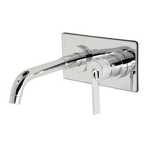 Continental Single-Handle 2-Hole Wall Mount Bathroom Faucet
