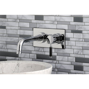 Kaiser Single-Handle 2-Hole Wall Mount Bathroom Faucet