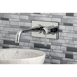 "Concord Single Handle 4"" Centerset 2-Hole Wall Mount Bathroom Faucet w/Metal Lever, 1.2 gpm"