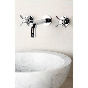 Millennium Two-Handle 3-Hole Wall Mount Bathroom Faucet