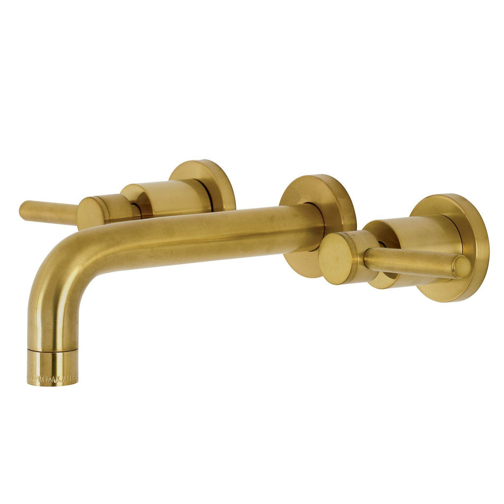 Concord Two-Handle 3-Hole Wall Mount Bathroom Faucet