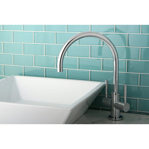 Concord Two Handle 1-Hole Vessel Sink Bathroom Faucet w/Metal Lever, 1.2 gpm