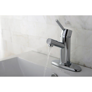 Concord Single Handle 1 or 3 Hole Bathroom Faucet w/Metal Lever and Optional Deck Plate - Includes Pop-Up Drain, 1.2 gpm