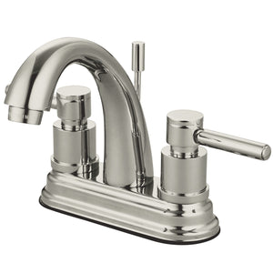 "Concord Single Handle 4"" Centerset 1 or 3 Hole Bathroom Faucet w/Metal Lever - Includes Pop-Up Drain, 1.2 gpm"