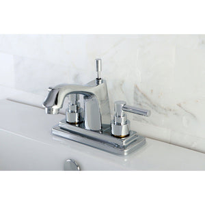 "Elinvar Two Handle 4"" Centerset 3-Hole Bathroom Faucet w/Metal Lever - Includes Pop-Up Drain, 1.2 gpm"