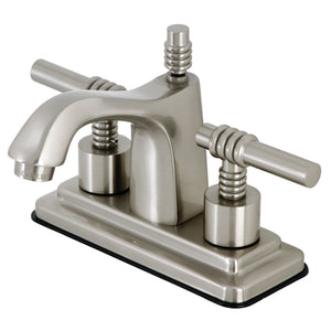 "Milano Two-Handle 3-Hole Deck Mount 4"" Centerset Bathroom Faucet with Brass Pop-Up"