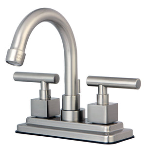 "Claremont Two Handle 4"" Centerset 3-Hole Bathroom Faucet w/Metal Lever - Includes Pop-Up Drain, 1.2 gpm"