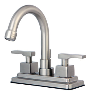 "Executive Two Handle 4"" Centerset 3-Hole Bathroom Faucet w/Metal Lever - Includes Pop-Up Drain, 1.2 gpm"