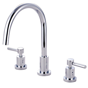 "Concord Two Handle 8-16"" 3-Hole Widespread Kitchen Faucet w/Metal Lever, 1.8 gpm"