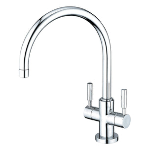 Concord Two Handle 1-Hole Kitchen Faucet w/Metal Cross and Optional Deck Plate, 1.8 gpm