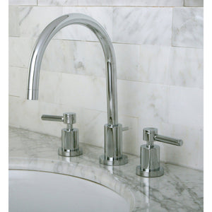 "Concord Two Handle 8-16"" Widespread 3-Hole Bathroom Bathroom Faucet w/Metal Lever - Includes Pop-Up Drain, 1.2 gpm"