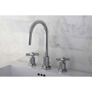 "Millennium Two Handle 4"" Mini-Widespread 3-Hole Bathroom Faucet w/Metal Cross - Includes Pop-Up Drain, 1.2 gpm"