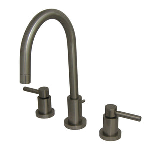 "Concord Two Handle 4"" Mini-Widespread 3-Hole Bathroom Faucet w/Metal Lever - Includes Pop-Up Drain, 1.2 gpm"