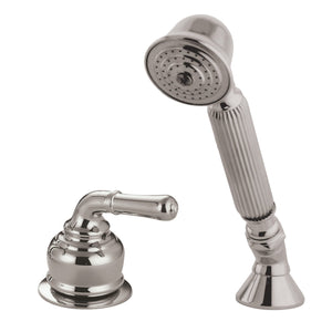Classic Deck Mount Hand Shower with Diverter for Roman Tub Faucet
