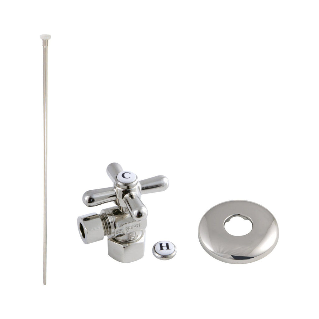 Trimscape Toilet Supply Kit Combo 1/2-Inch IPS X 3/8-Inch Comp Outlet