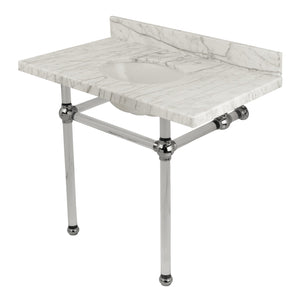 Templeton 36-Inch Marble Console Sink with Acrylic Feet
