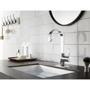 Continental Single-Handle 1-Hole Deck Mount Bathroom Faucet with Push Pop-Up