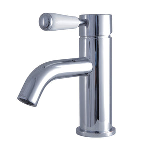 Paris Single Handle 1-Hole Bathroom Faucet w/Porcelain Lever - Includes Pop-Up Drain, 1.2 gpm