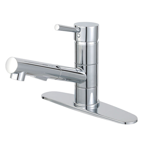 Concord Single Handle 1 or 3 Hole Pull-Out Spray Kitchen Faucet w/Metal Lever and Optional Deck Plate, 1.8 gpm