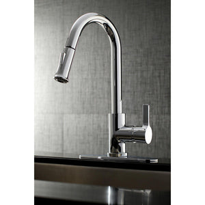 Continental Single-Handle 1-Hole Deck Mount Pull-Down Sprayer Kitchen Faucet