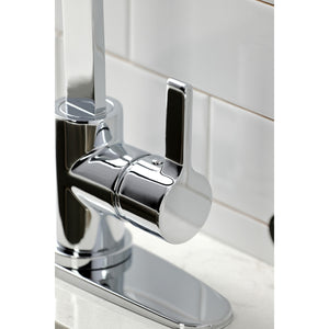 Continental Single-Handle Deck Mount Kitchen Faucet with Brass Sprayer and Deck Plate
