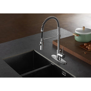 New York Single-Handle 1-Hole Deck Mount Pre-Rinse Kitchen Faucet