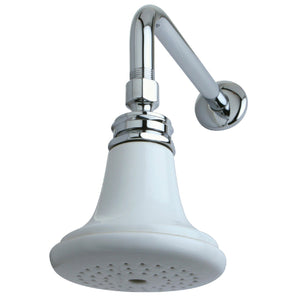 "Victorian Ceramic Showerhead with 12"" Shower Arm Combo"